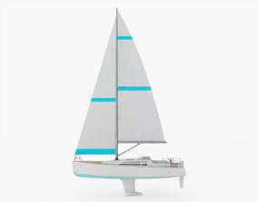 3D asset Sailboat Generic