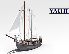 3D model game-ready Yacht