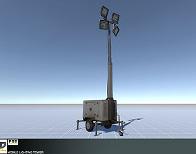 Mobile Lighting Tower 3D asset realtime