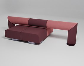 ROLL - Double-sided sofa with backrest - 3D