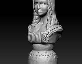 3D print model Bust of Monalisa