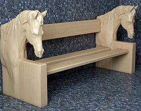 bench 3D print model horse