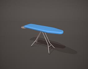 3D asset Blue Ironing Board