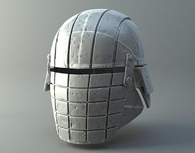Damaged Rogue helmet - Knights of Ren - 3D print model 2