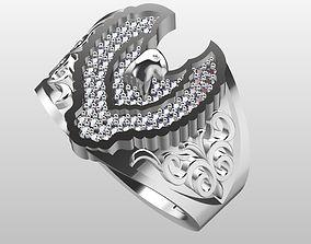 Eagle ring 3D print model precious