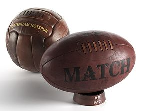 Football and Rugby Ball 3D model