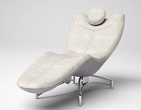 3D Grey Lounged Armchair
