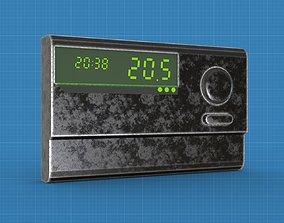 Temperature controller low poly 3D model