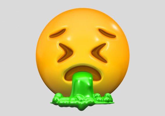 Emoji Face Vomiting 3D model