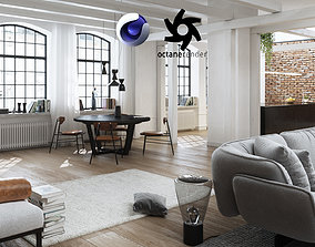 3D Workshop Apartment in London Cinema 4D and Octane 1