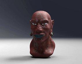 Futuristic Alien Tribe Male Bust 3D model