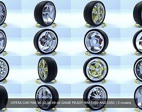 ORTAS CAR RIM 36-37-38-39-40 GAME READY RIM TIRE AND 3D
