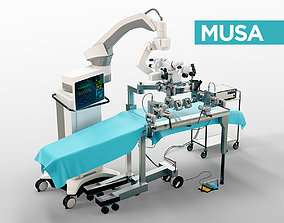 3D MUSA - robot assisted micro surgery medical machine