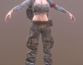 3D asset Rigged Female Survivor C