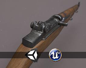 World War II - M1 Garand - PBR and Game Ready 3D model