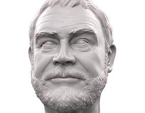 Sean Connery 3D printable portrait sculpture