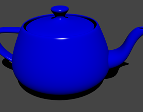 Blue Teapot 3D model