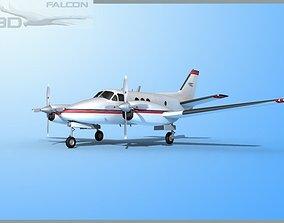 rigged Falcon3D E90 King Air F01
