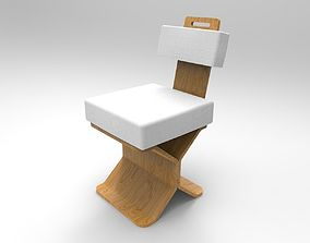 wood Wood Chair 3D print model