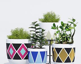 Design Twins color pot 3D model