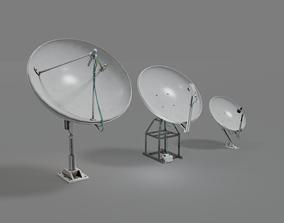 3D asset VR / AR ready Satellite Antenna