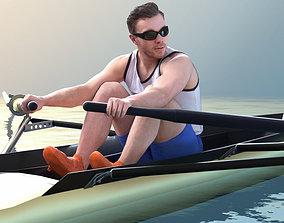 3D Robb 10776 - Rowing Athlete