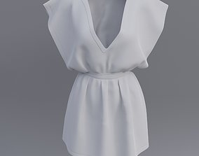 3D Female short dress realtime