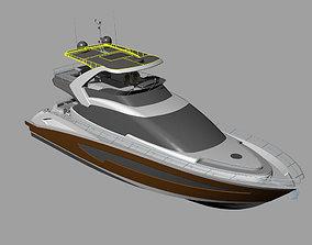 hatteras Yacht 3Dmodel