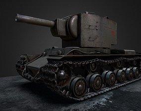 KV-2 soviet WW2 heavy tank 3D model