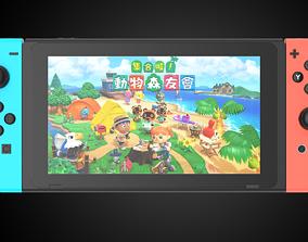 Ultra-precision Nintendo Switch C4D modeling rendering