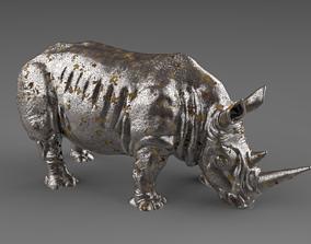 3D model Rhino statue interior decoration
