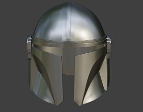 3D print model Mandalorian helmet armor from Star Wars