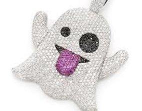 3D printable model Ghost emoji diamond pendant