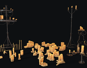 Large Candles Collection 3D model