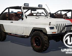 UE4 Suv 4x4 Offroad Vehicle 3D model