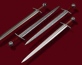Textured Medieval Sword 3D model
