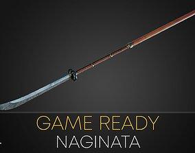 Game Ready Naginata spear 3D model