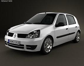 3D Renault Clio Mk2 5-door 2005