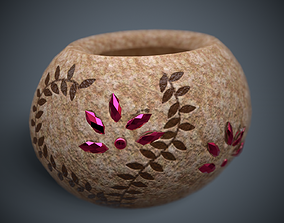 3D asset low-poly Ceramic Vase