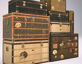 vuitton 3D model Louis Vuitton Vintage Trunks