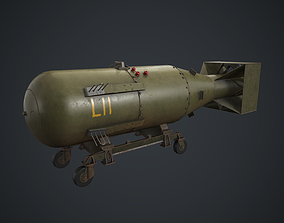 3D model Little Boy atomic bomb PBR Game Ready