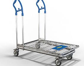 Ikea cart shopping 3D asset