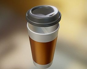 Coffee To Go Cup Highpoly 3D model