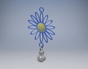 Flower Drop Earrings 3D print model