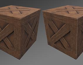 Wood Box 3D model realtime