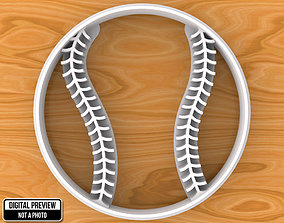 Baseball Ball Cookie Cutter 3D printable model