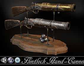 Flintlock Hand-Cannon - two skins 3D asset