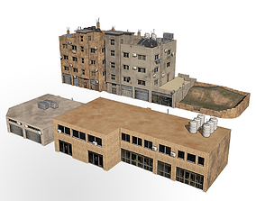 3D middle east buildings