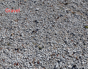 3D model Ultra realistic Gravel White Scan