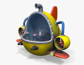 Cartoon Submarine 3D asset